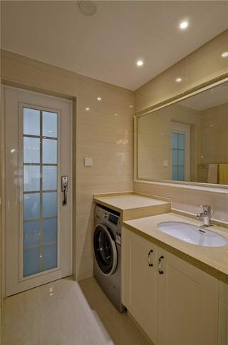 简欧风格三居室洗手台装修效果图