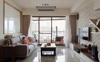现代简约三居室装修效果图