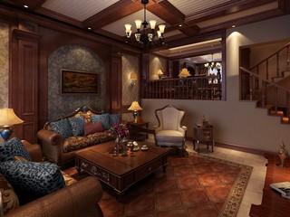 古典风格别墅客厅装修效果图