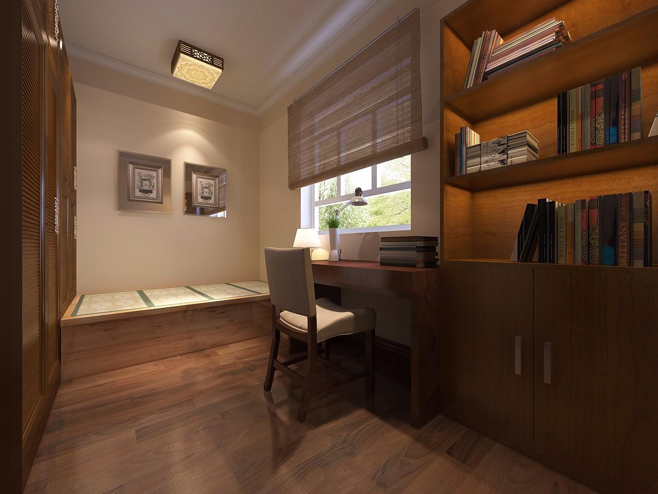 古典风格三居室书房装修效果图