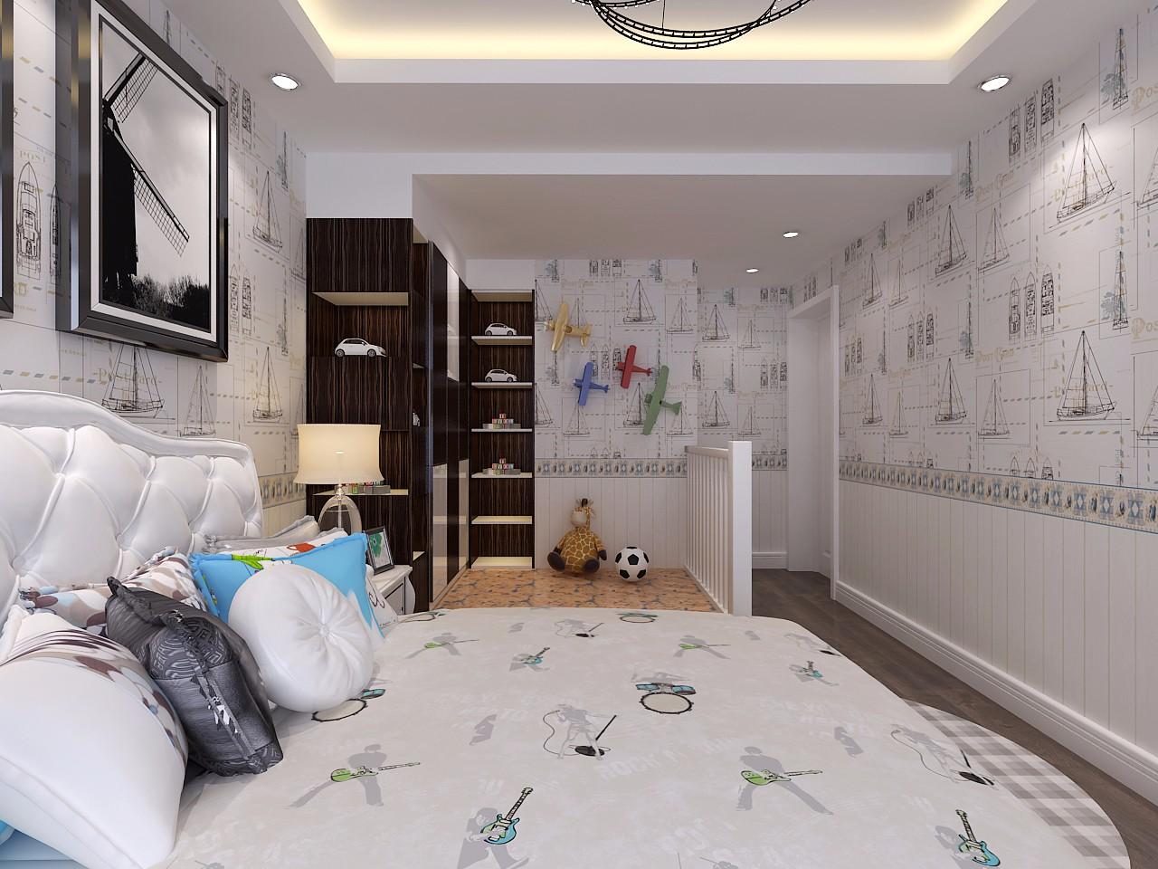 98㎡现代简约儿童房装修效果图