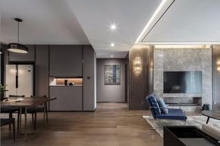140㎡简约现代风格客厅过道装修效果图