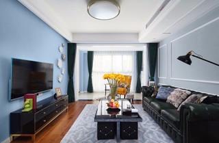 105平米美式风格客厅装修效果图