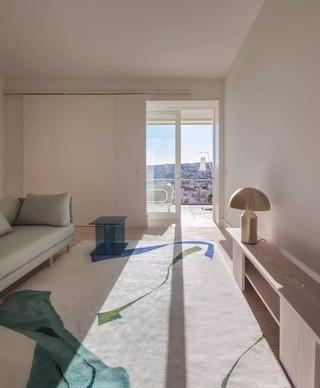 极简风格公寓客厅装修效果图
