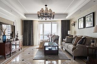 复古美式风格客厅装修效果图