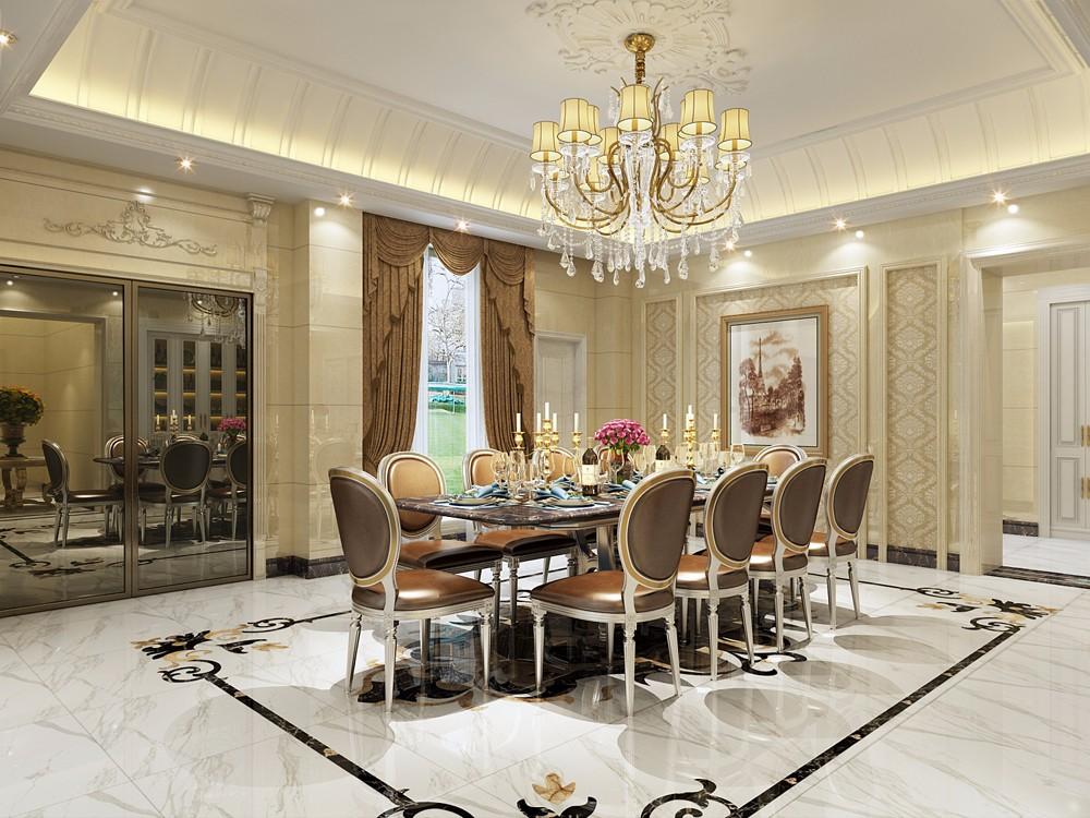 欧式风格别墅餐厅装修设计效果图