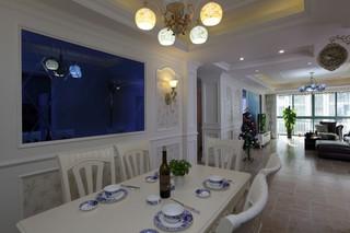 现代欧式风格餐厅背景墙装修效果图