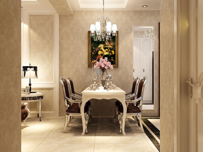 110平米欧式风格餐厅装修效果图