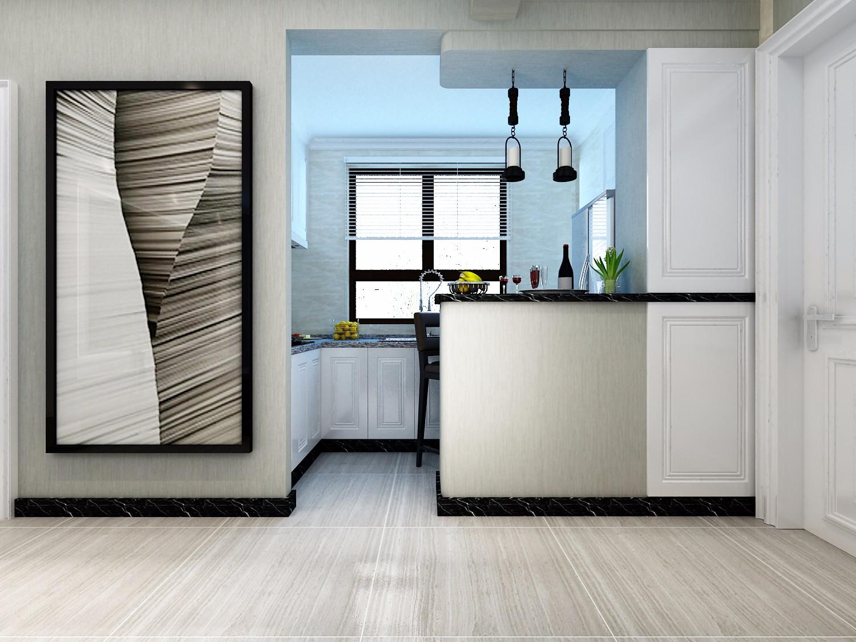 105㎡现代混搭厨房装修效果图