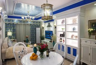 地中海风格三居餐厅装修设计图