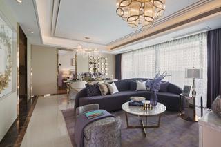 轻奢时尚三居室客厅装修效果图