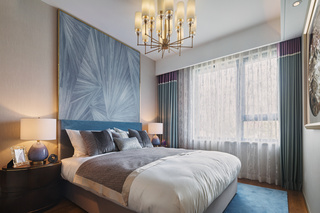 轻奢时尚三居卧室装修设计图