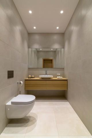 现代风公寓卫生间装修效果图