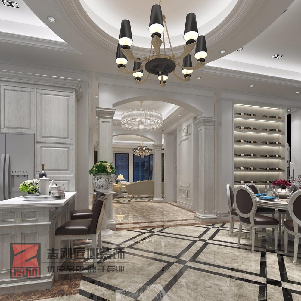 欧式别墅吧台装修设计效果图