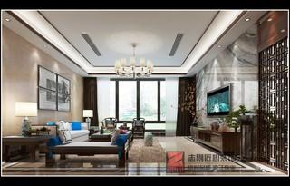 新中式风别墅客厅装修效果图