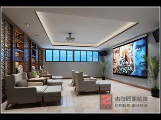 新中式风别墅影音室装修效果图