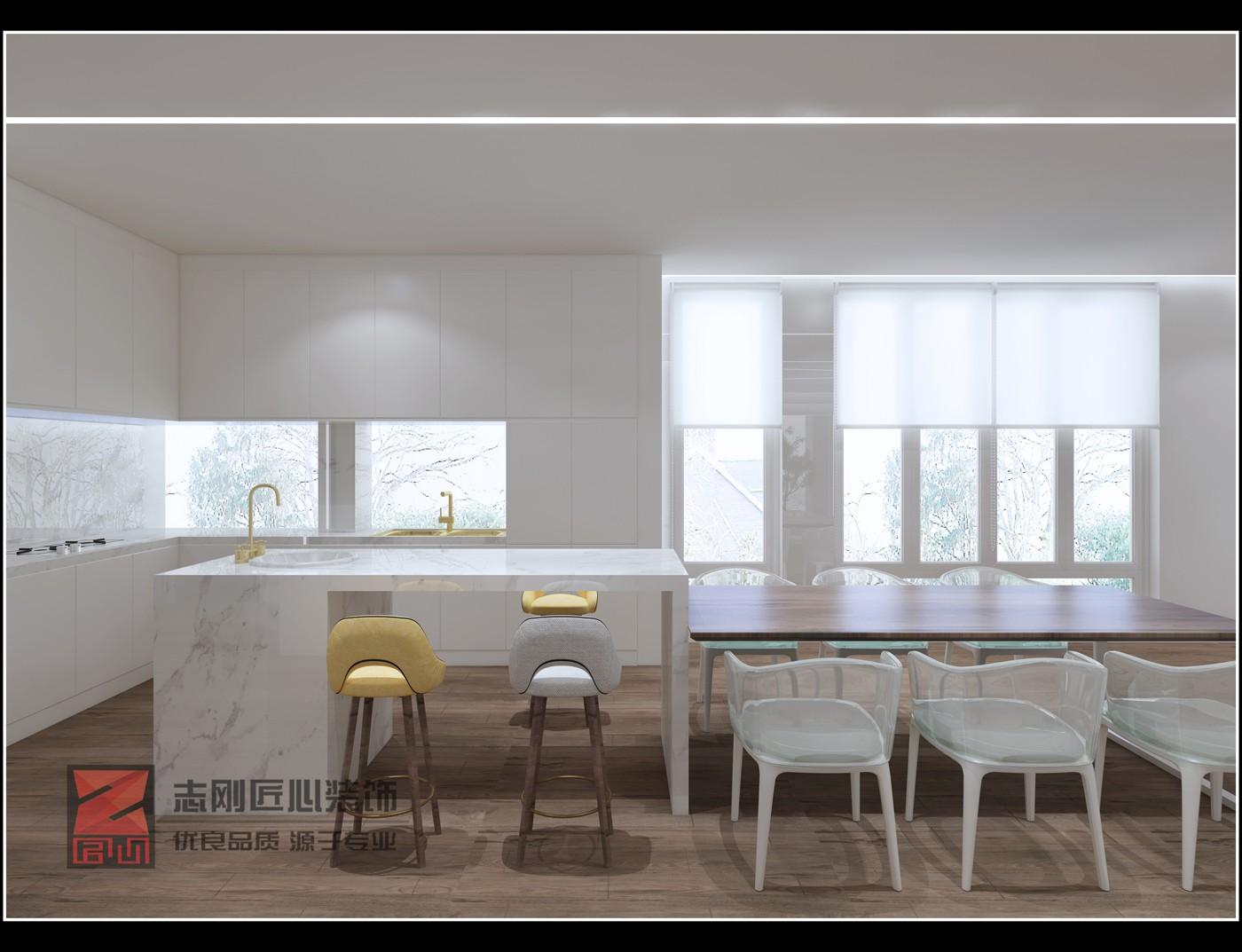 极简别墅厨房装修效果图