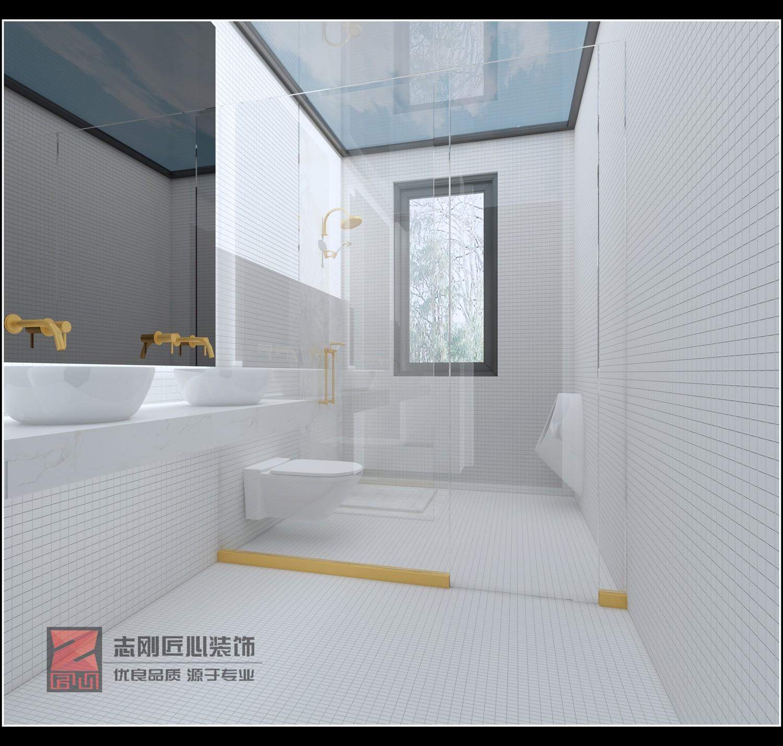 极简别墅卫生间装修效果图
