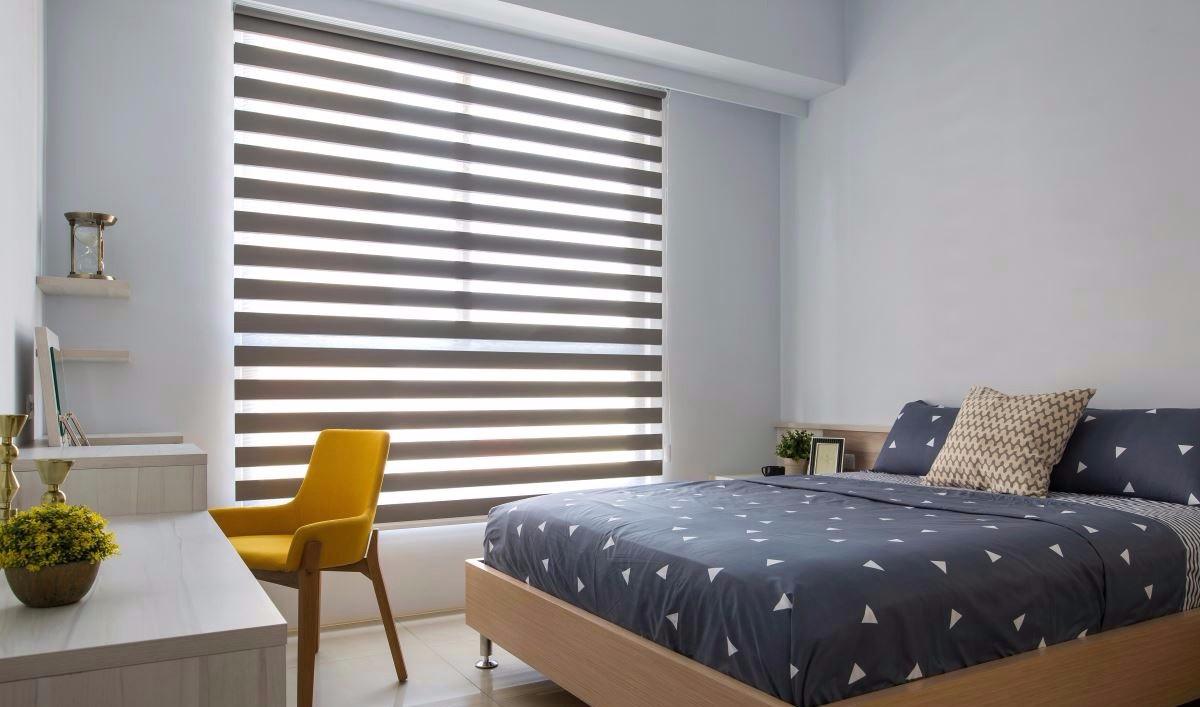 85平现代风格卧室装修效果图