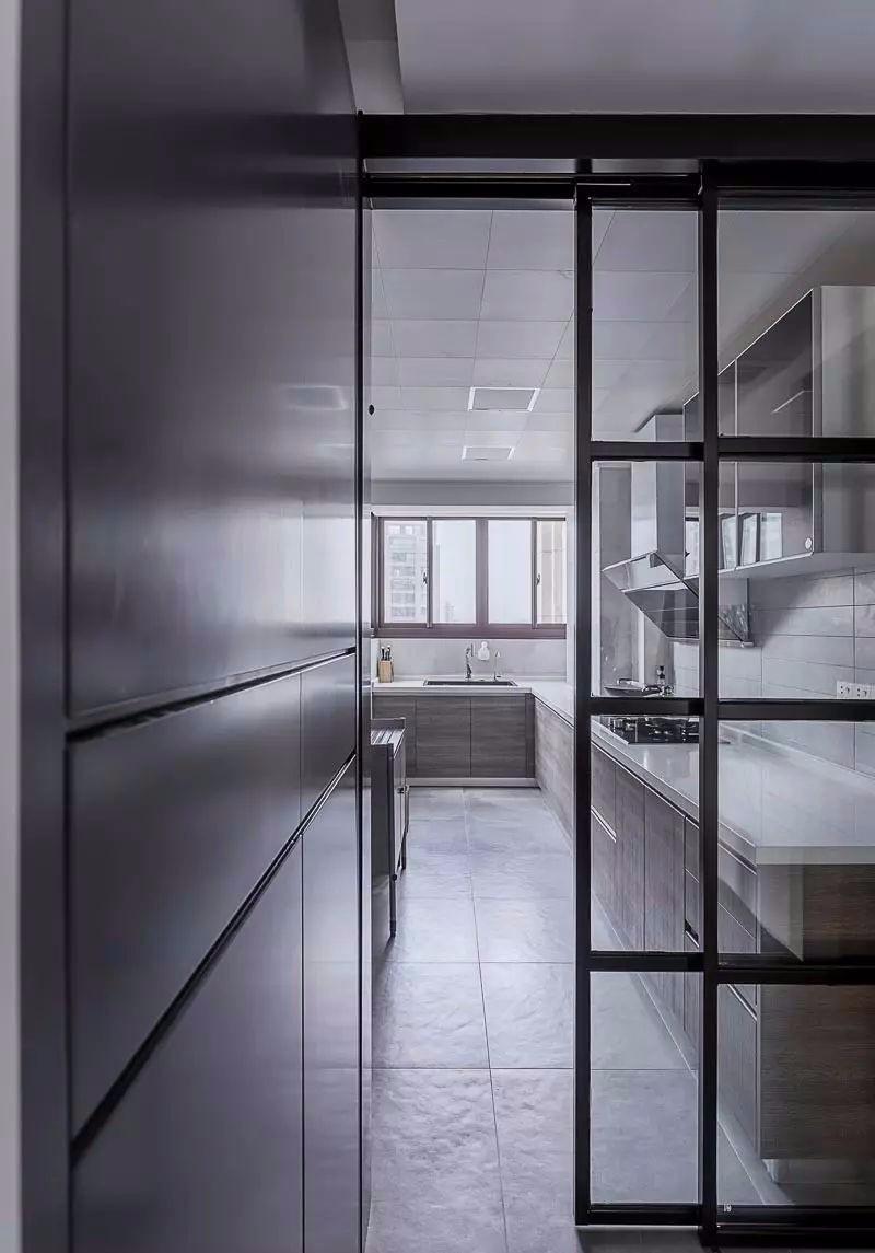 85㎡北欧风厨房装修效果图