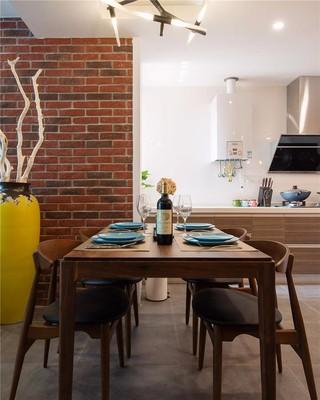 80㎡混搭风格装修餐桌椅设计图
