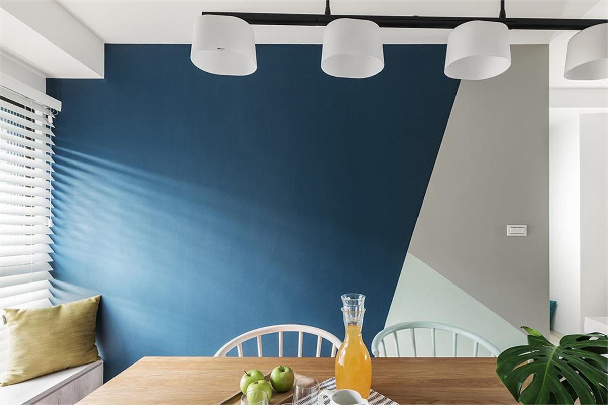 110㎡北欧风格餐厅背景墙装修效果图