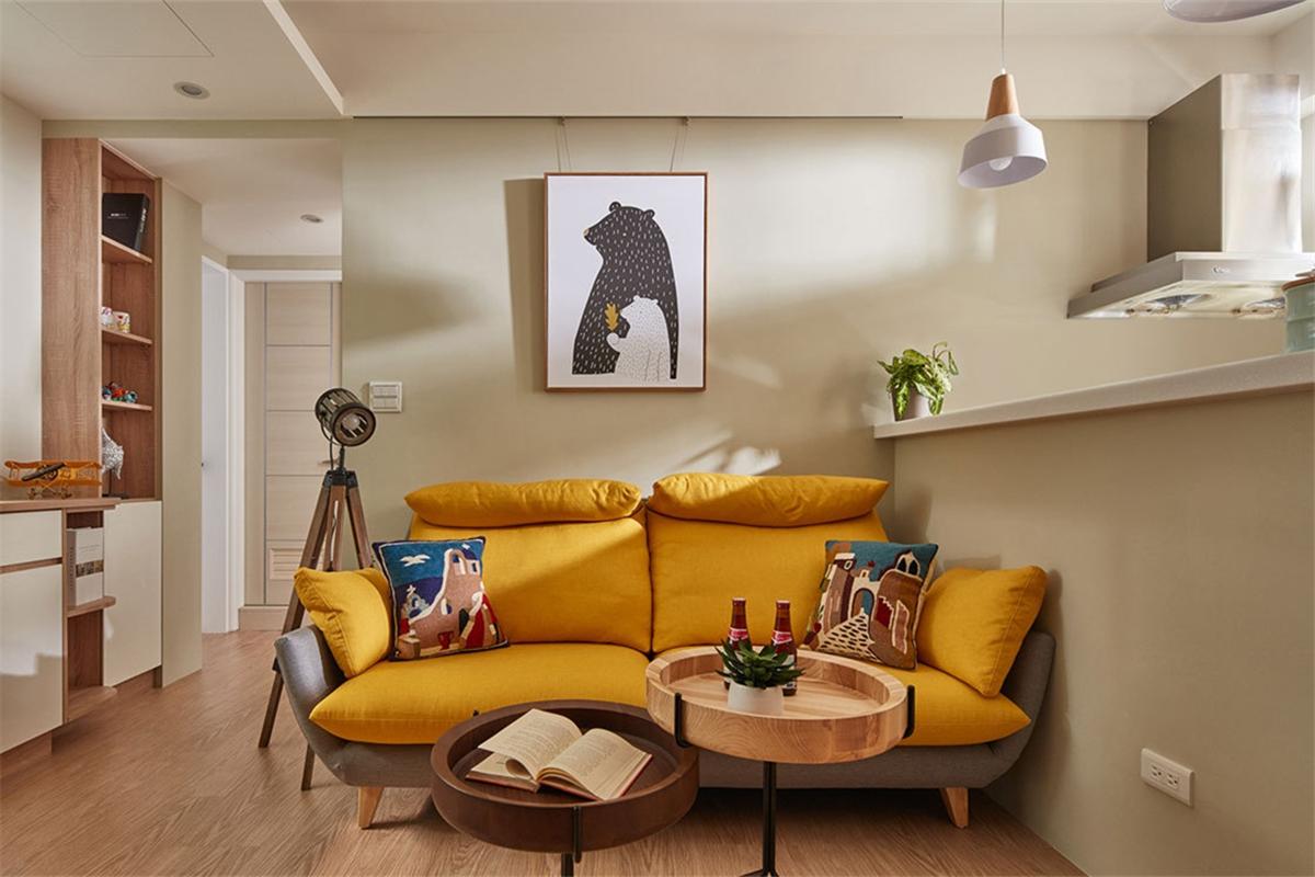 北欧风两居室装修沙发设计图
