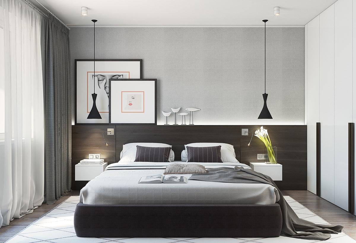 现代简约公寓卧室装修设计效果图