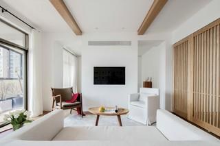 极简白色原木风公寓装修效果图