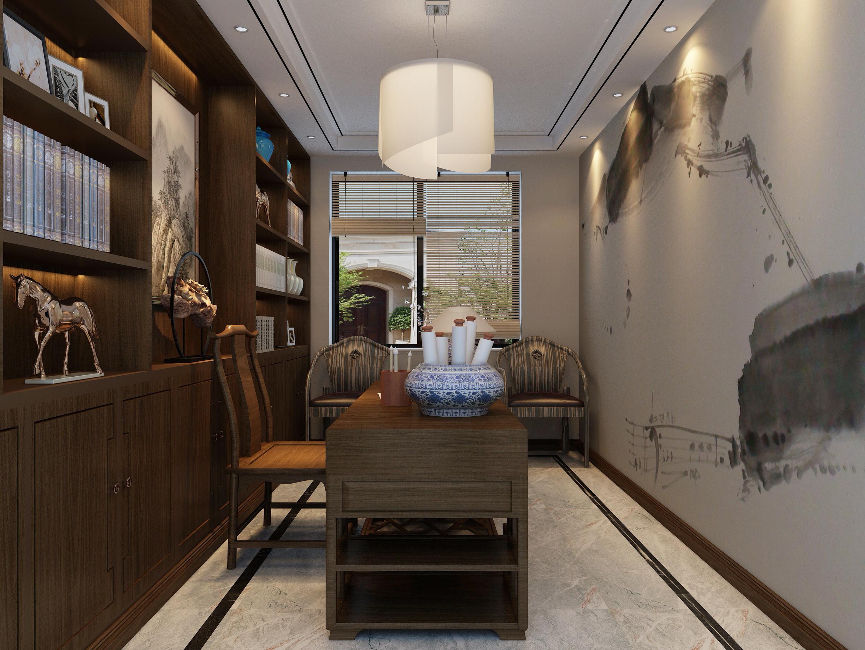 156平米新中式书房装修效果图