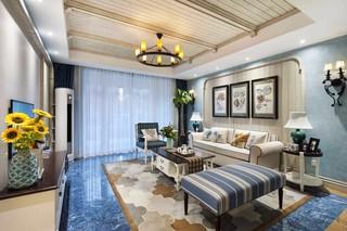 地中海风格三居室客厅装修设计图