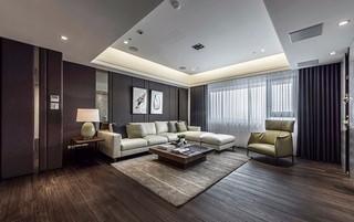 100平现代风格客厅装修效果图