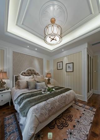 法式新古典别墅卧室吊顶装修效果图