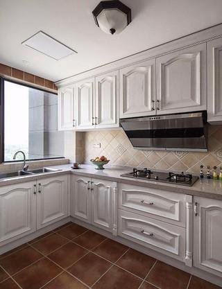 120平美式风三居厨房装修效果图
