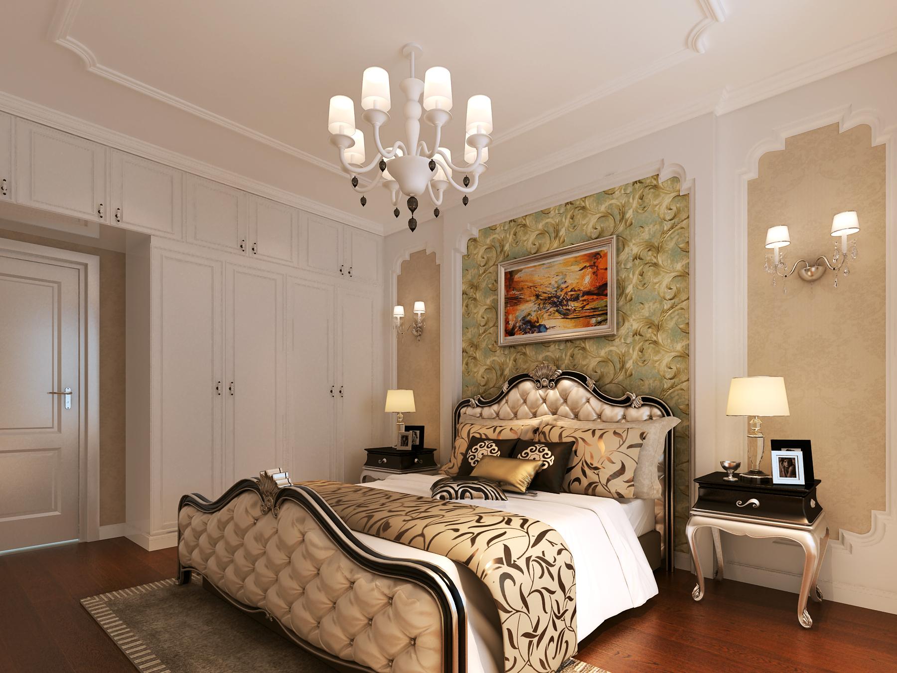 130㎡欧式风格卧室装修效果图