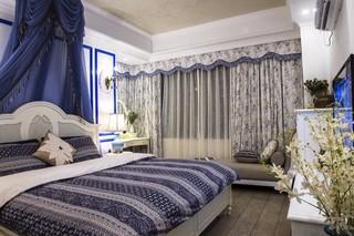 90㎡地中海风格卧室每日首存送20