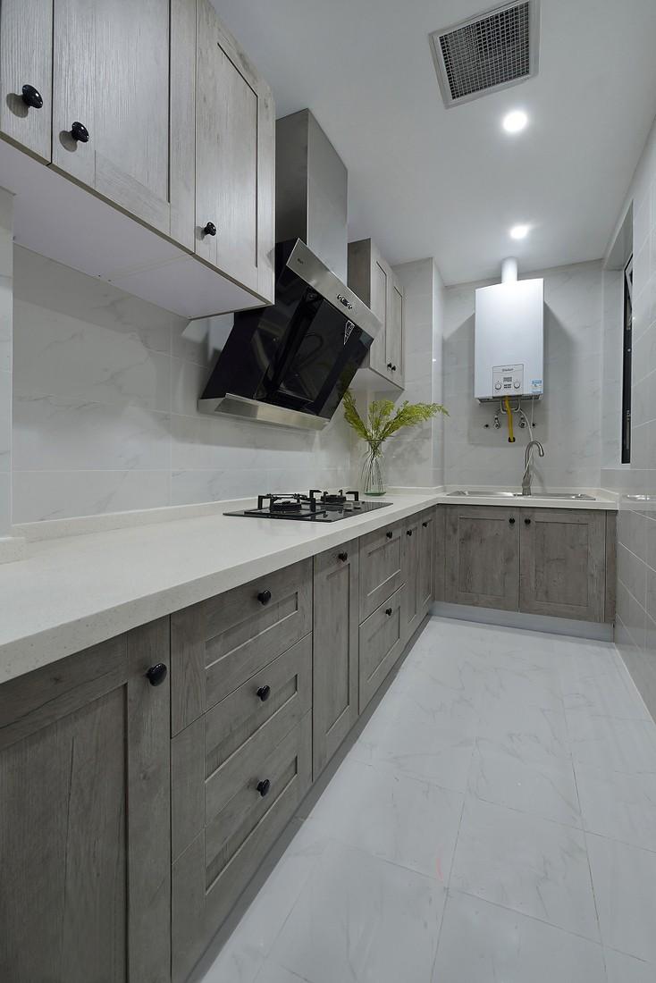简美风格两居室厨房装修效果图