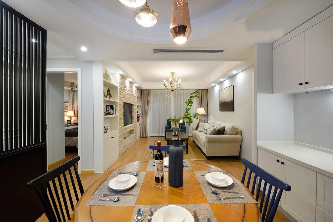 简美风格两居室餐厅装修效果图