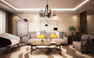 100㎡混搭风格沙发背景墙装修效果图
