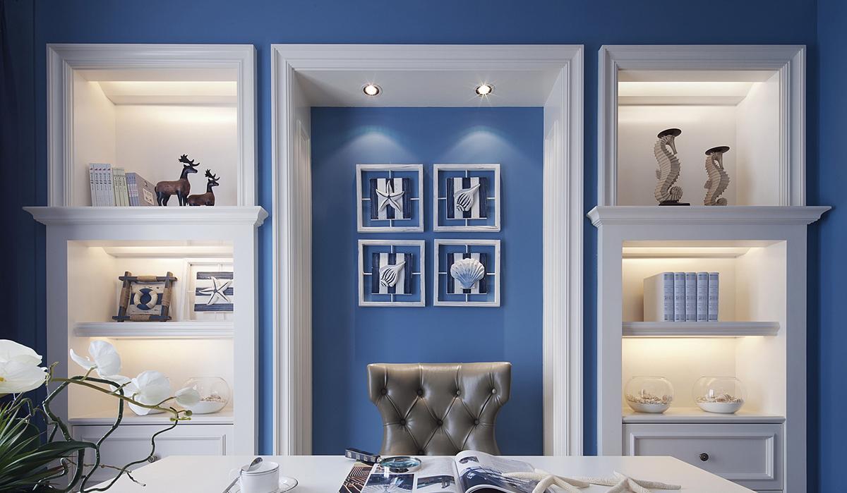 美式风格四居书房装修效果图