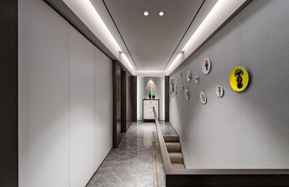 现代简约走廊装修效果图