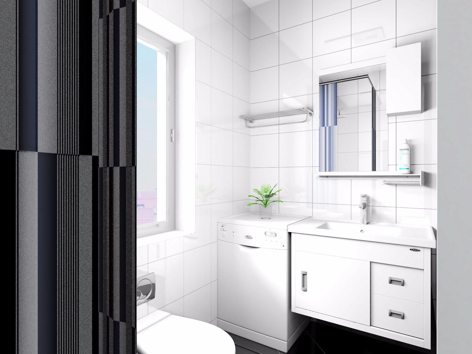 白色简约卫生间装修效果图