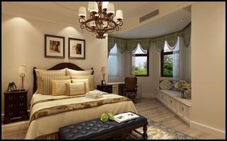 120㎡美式卧室装修效果图