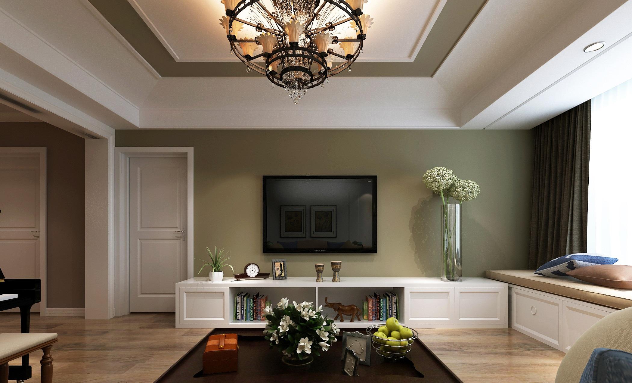 美式风格电视背景墙装修设计效果图