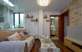 80平混搭风格客厅装修效果图