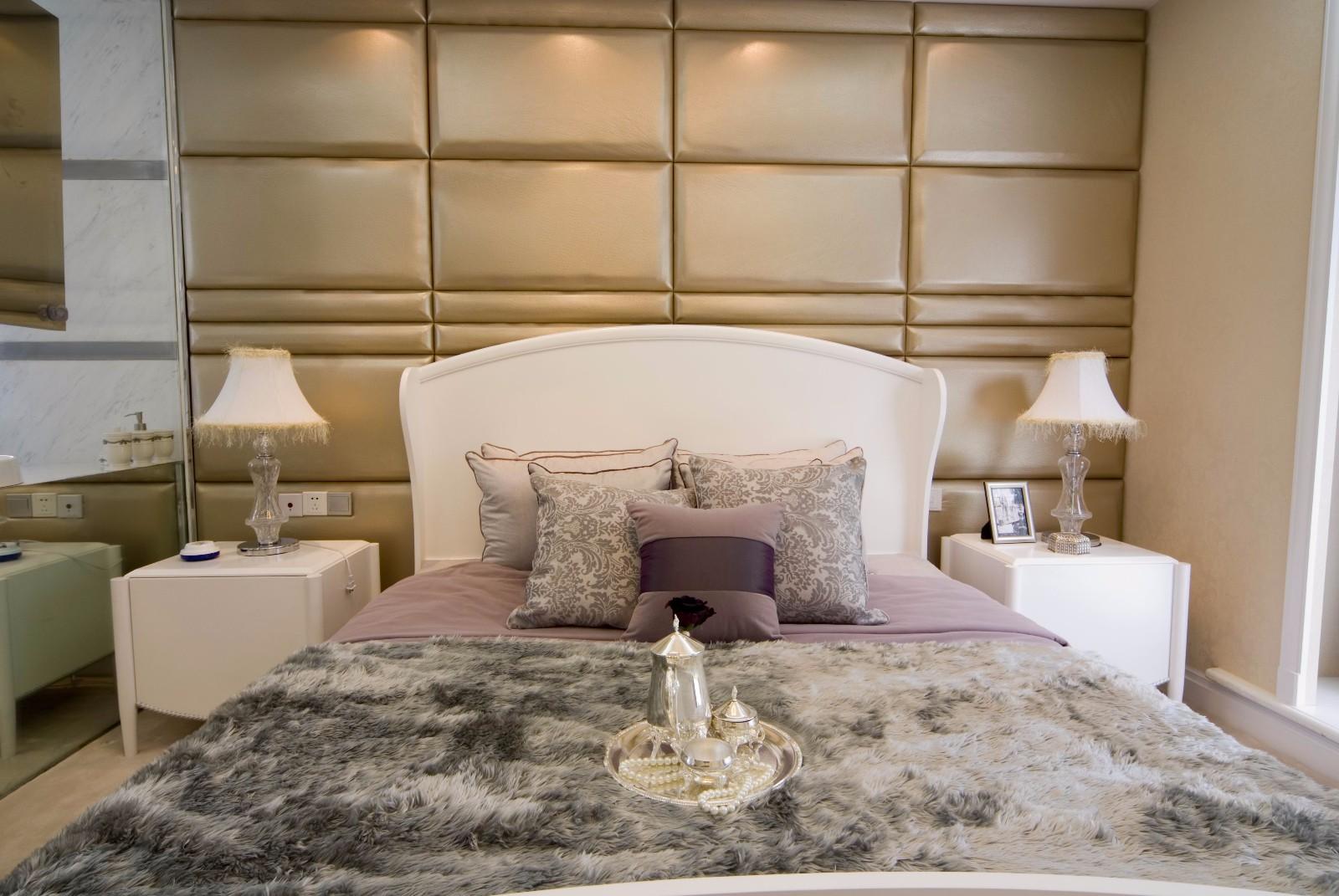 简欧风格大户型床头背景墙装修效果图