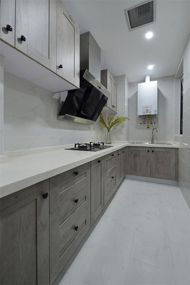 简约美式风格厨房装修效果图