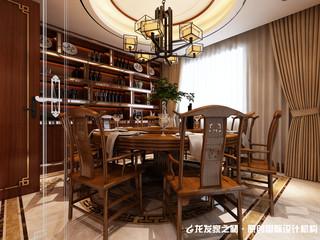 中式别墅餐厅装修设计效果图