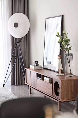 105㎡现代风格装修电视柜设计图