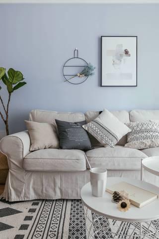 小户型北欧风沙发背景墙装修效果图